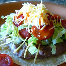 Pork and Black Bean Chalupas with Tex-Mex Dressing