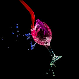 Colors by Ines Raycheva - Abstract Water Drops & Splashes ( wine, water, splashing water, water drops, glasses, splash, high speed photography, colorful, colors, ines raycheva, high speed, water drop, glass art, color, speed photography, glass, color splash, splashes, bulgaria,  )