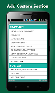 smart resume builder cv free screenshot for android - Resume Cv Builder