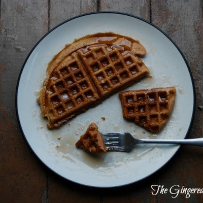 Apple Pie Sourdough Waffles (basic recipe by King Arthur Flour, adapted by Jenni)