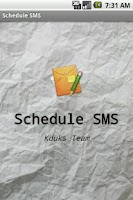 Screenshot of Schedule SMS Pro