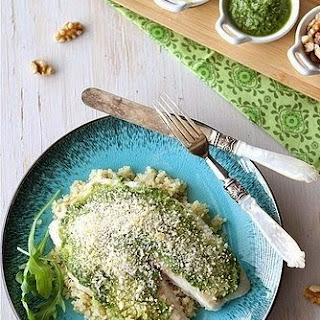 Baked Tilapia In Breadcrumbs And Pesto