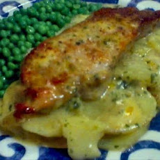 Pork Chops and Creamy Potato Scallop