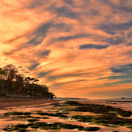 Duver Sunset by Kelly Murdoch - Landscapes Sunsets & Sunrises ( clouds, sand, sky, st helens, ztam photography, sunset, sea, beach, isle of wight, duver, colours, landscape )