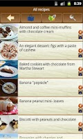 Screenshot of Chocolate recipes