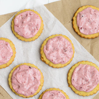 Cranberry Frosted Pistachio Cookies