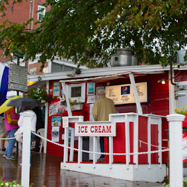 Maine Tradition by Donna Neal - City,  Street & Park  Markets & Shops ( lobster rolls, reds, msaine )