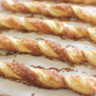 Cinnamon Twists (with Quick Puff Pastry)