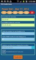 Screenshot of Powerball Predictions