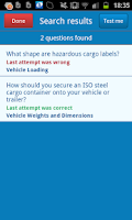 Screenshot of LGV Theory Test UK