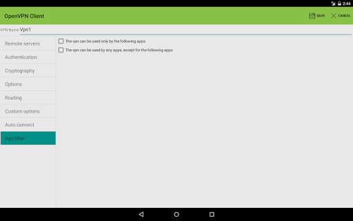 OpenVPN Client - screenshot