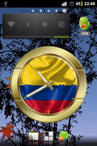 Colombia flag clocks