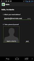 Screenshot of Evernote Hello