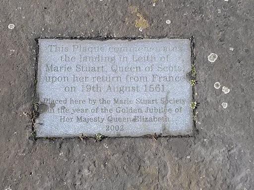Marie Stuart Landing Commemoration Plaque