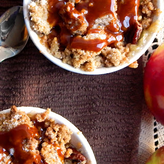 Apple Crumble with Salted Butter Caramel