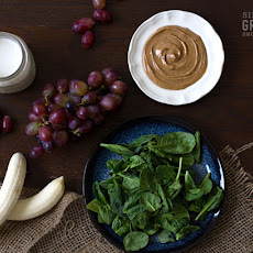 "Almond Butter and ""Jelly"" Green Smoothie"