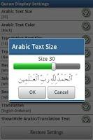 Screenshot of Al Quran (Al-Zikar Pro Lite)