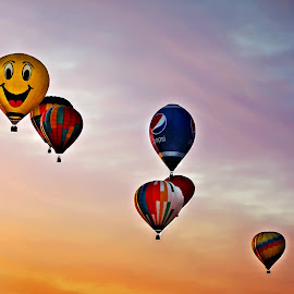 Up, Up and Away by Mary Bray - City,  Street & Park  Amusement Parks ( sky, festivals, sunset, hot air balloons )