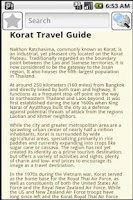 Screenshot of Korat Travel Guide