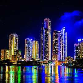 Surfers Paradise Editted by Yousef Hasan - City,  Street & Park  Skylines ( surfersparadise, beach, cityscape, surfers, nightlife, nightscape, city,  )