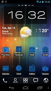 Neon Blue Icons Pack - ADW GO - screenshot