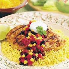 Fiesta Chicken with Black Bean Salsa