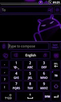 Screenshot of GOKeyboard Theme Glow Purple