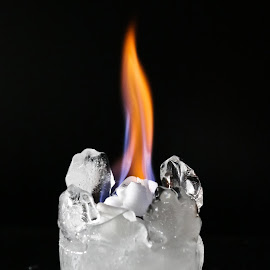 ice and flames by Alexandra Ale - Novices Only Objects & Still Life ( flames, ice, fire,  )