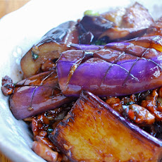 Criss-cross Pan-fried Eggplant