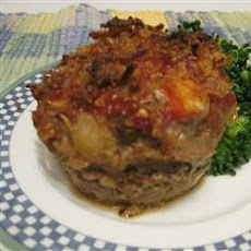 Onion-Crusted Meat Loaf with Roasted Potatoes
