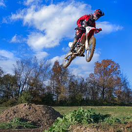 The Dream by Alexandria Bonner - Sports & Fitness Motorsports ( uniform, dream, track, sport, race, photo, jump, private, course, red, bike, motocross, movement, action, clarity, dirt,  )