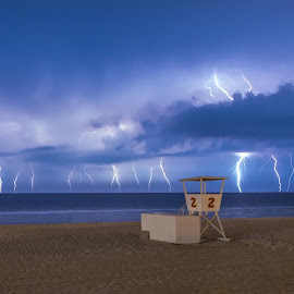 What a view! by Bill Davis - Landscapes Weather ( lightning, thunderstorm, weather, storms, beach, storm chasers )