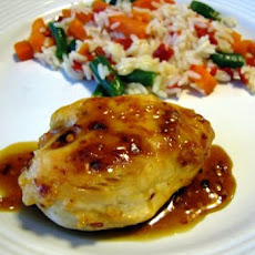 Chicken Breasts with Spicy Honey Orange Glaze