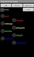 Screenshot of Vietnamese Tagalog Dictionary