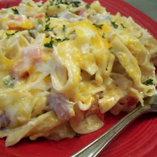 Chicken Cheese Noodle Casserole