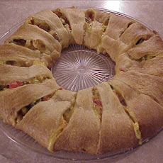 Chicken Crescent Wreath