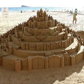 Sand Castle by Manuel Jaramillo - Artistic Objects Other Objects ( amazing, sand, castle, beach, artistic objects, spain )