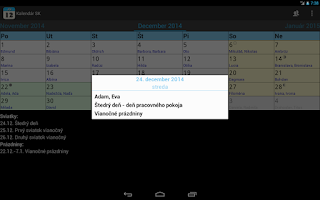 Screenshot of Kalendár SK