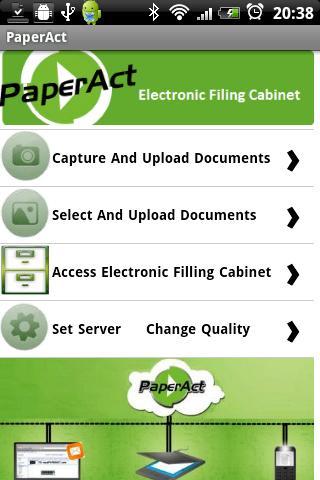 PaperAct Scan Upload PDF cloud