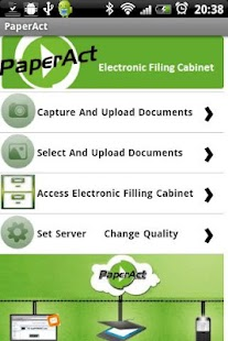 PaperAct Scan Upload PDF cloud - screenshot