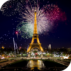 Fireworks in Paris Wallpaper