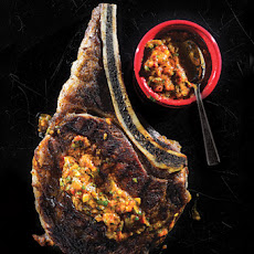 Grilled Rib Eye with Sweet-Hot Pepper Sauce