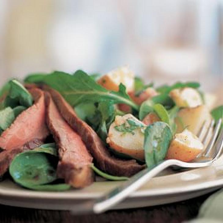 Flank Steak, Arugula & Potato Salad Recipe | Yummly