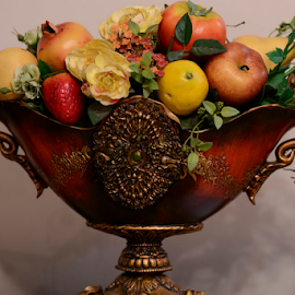 A Basket of Plastic Fruits by Ferdinand Ludo - Artistic Objects Other Objects ( made out of plastic, house decor )