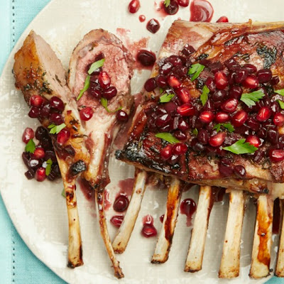 Roasted Lamb with Pomegranate and Wine