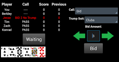 Screenshot of Fingers the Card Game