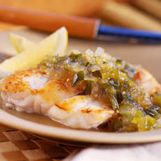 Grouper with Tomatillo-and-Green Chile Chutney