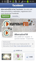 Screenshot of AlternativeFM