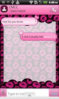 Screenshot of GO SMS THEME/HeartFeltKisses