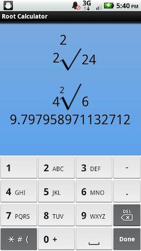 Root Calculator